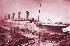 TITANIC nearing the completion of her outfitting.