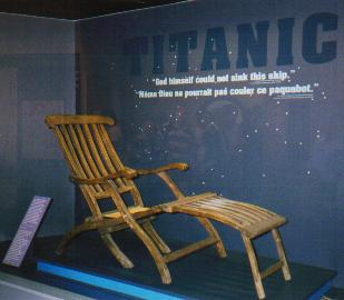 A TITANIC deckchair.  Repaired somewhat, but nevertheless, the real thing!
