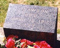 The infamous 'J Dawson' grave at the Fairview Cemetery.  For the last time, it's not 'Jack' from James Cameron's 'Titanic', it's John Dawson, a stoker.